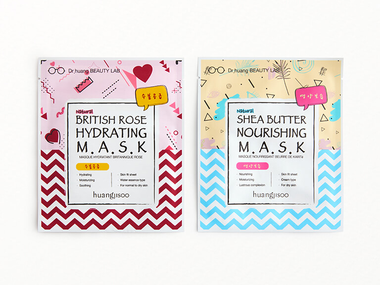 HUANGJISOO British Rose Hydrating Mask & Shea Butter Nourishing Mask Set