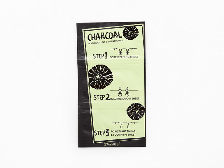 NAISTURE Charcoal 3 Step Nose Pack