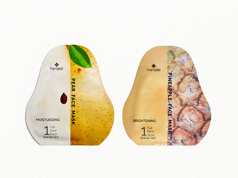 HANALEI Face Sheet Mask Duo in Pear and Pineapple