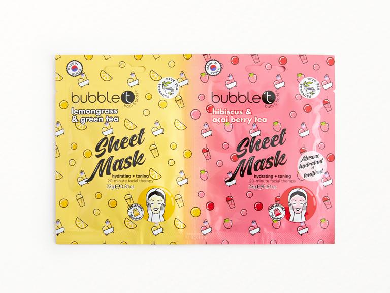 Bubble T Sheet Masks Duo Set
