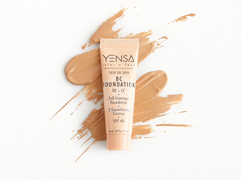 YENSA BC Foundation in Medium Warm with swatch