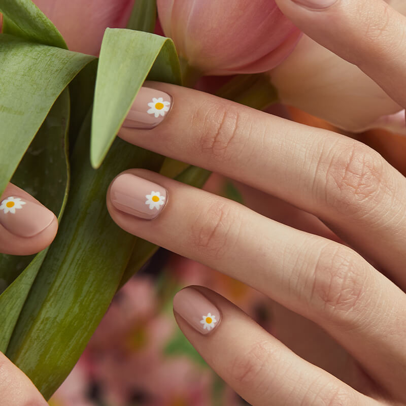 April 2020 Flower Nail Art Story Square