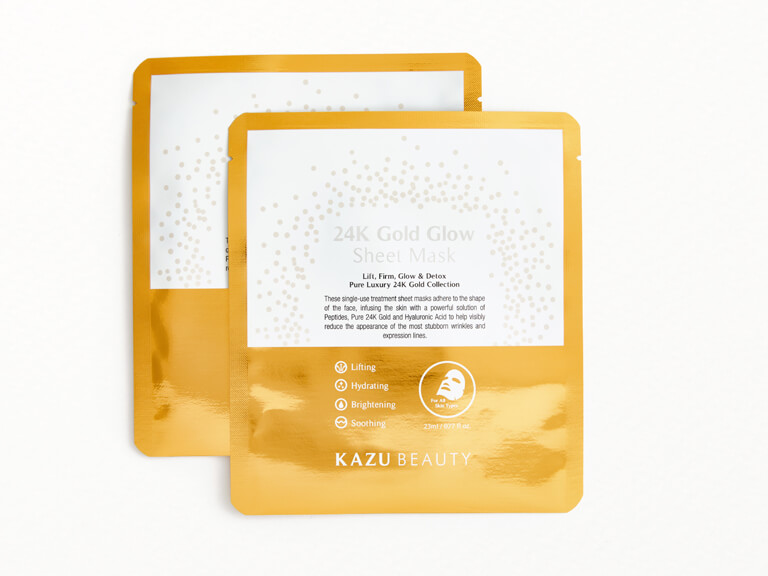 KAZU BEAUTY 24K Gold Glow Sheet Mask