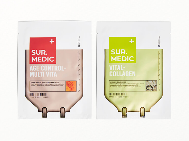 SUR.MEDIC+ Vital-Collagen & Age Control Multi-Vita Sheet Masks Duo