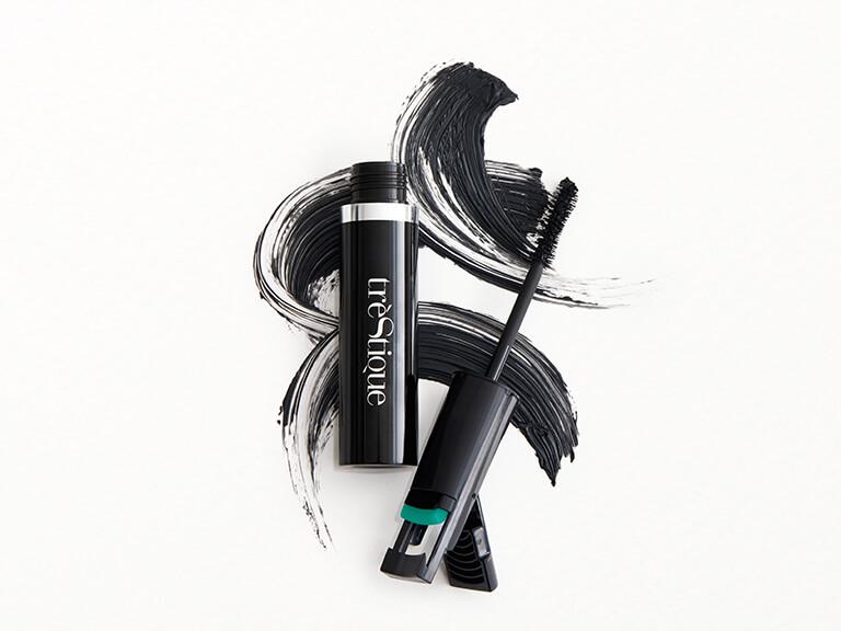TRÈSTIQUE Good Vibes Mascara + Lash Curler in Icelandic Black Lacquer