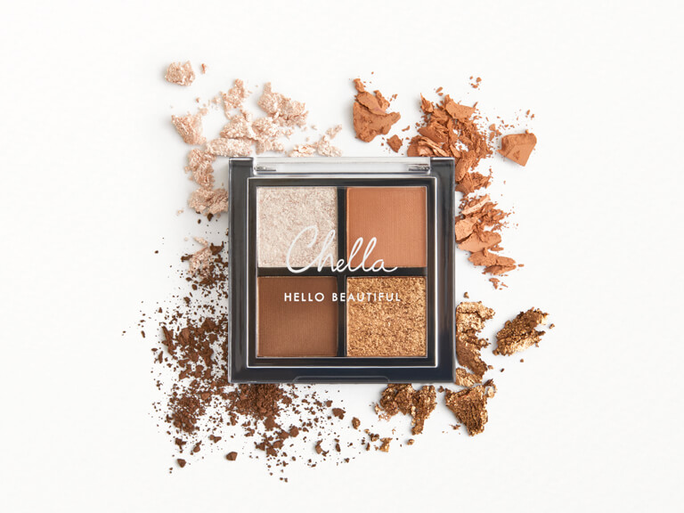 CHELLA La Vie Mini Quad Eyeshadow in Femme, Vitality, Instincts, and Dynamic