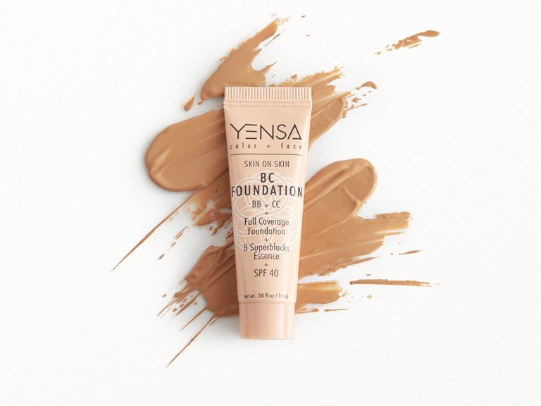 YENSA BC Foundation in Tan Neutral with swatch