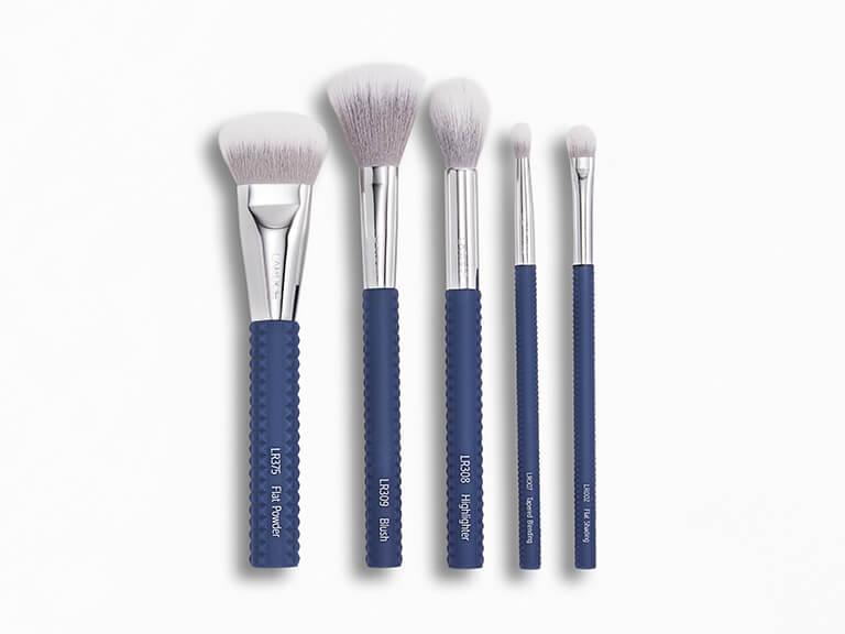 LARUCE_BEAUTY_Cheek_ _Eyes_Brush_Set_in_Denim_Blue_Colorway