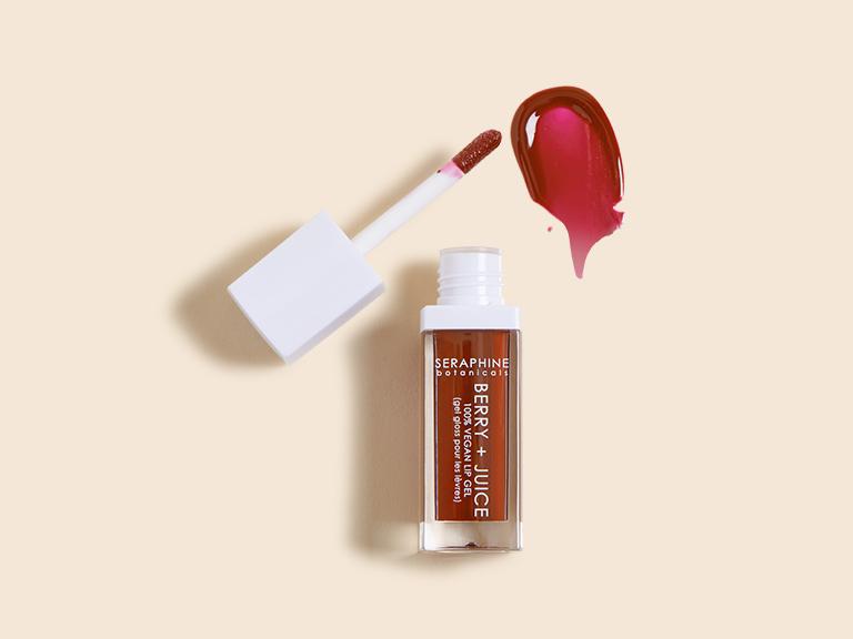 Seraphine Botanicals Berry + Juice 100% Vegan Lip Gel in Cherry Compote_0061
