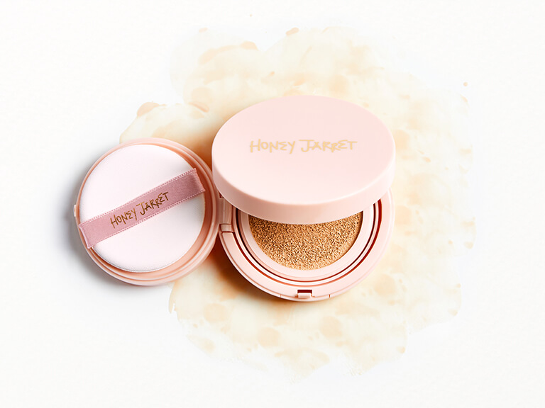 HONEY JARRET Clean Cover Cushion Foundation in Peach Ivory