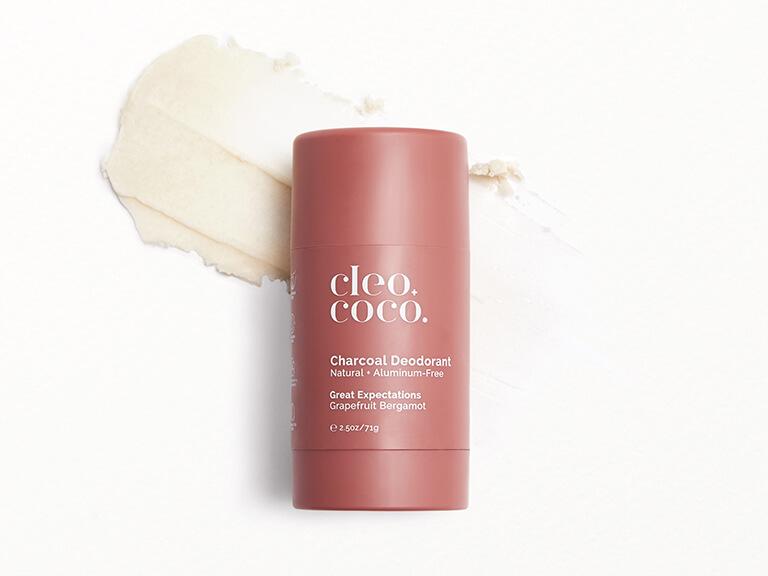 CLEO+COCO Charcoal Deodorant in Great Expectations, Grapefruit Bergamot