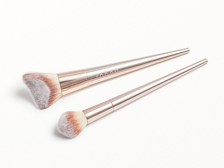 F.A.R.A.H BRUSHES Rendezvous Brush Set in Fluffy Highlight 628F + Chisel Contour 610F