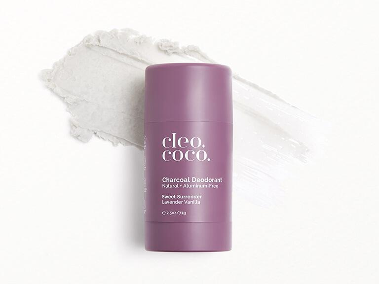 CLEO+COCO Charcoal Deodorant in Sweet Surrender, Lavender Vanilla