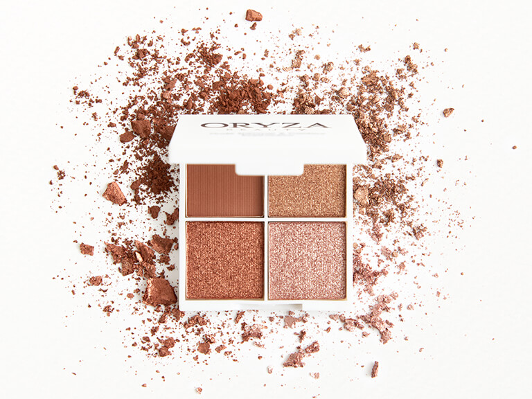 ORYZA BEAUTY Nude Shimmer & Contour Eyeshadow Palette