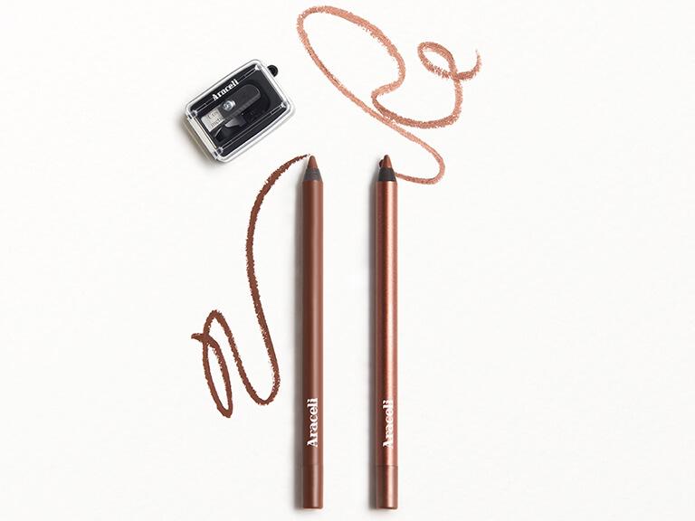 ARACELI BEAUTY Ojos Perfectos Gel Pencil Eyeliner Dúo Cosmética Sharpener in Chocolate_Chocolate and Cinnamon_Canela
