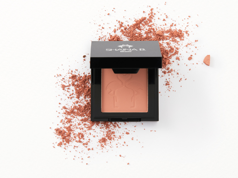 Shaina B Blush in Bellini with swatch