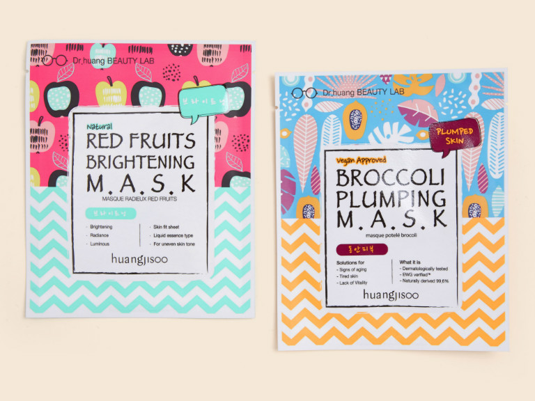 Huangjisoo Broccoli Plumping Mask & Red Fruits Brightening Mask