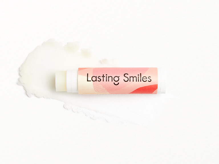 LASTING SMILES Strawberry Creme Blended Beverage Organic Lip Balm