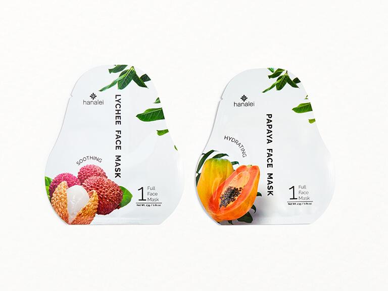 HANALEI Face Sheet Mask Duo in Lychee and Papaya
