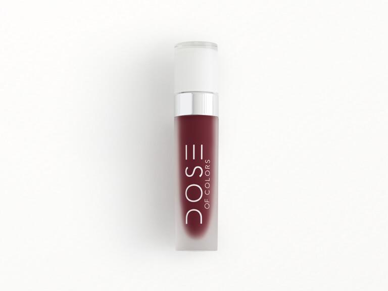 DOSE OF COLORS Liquid Matte Lipstick in Plum Queen