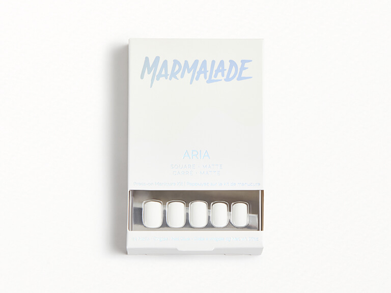 MARMALADE NAILS Press-on Manicure Kit in Aria - Square Matte White