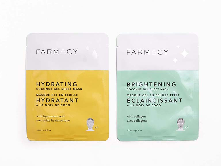 FARMACY Hydrating and Brightening Coconut Gel Sheet Mask Duo