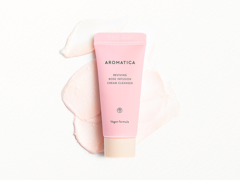 AROMATICA Reviving Rose Infusion Cream Cleanser