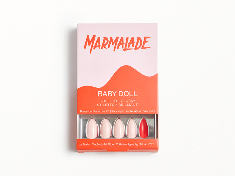 MARMALADE NAILS Press-on Manicure Kit in Baby Doll - Stiletto