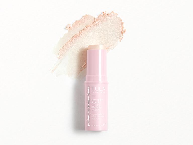 TULA SKINCARE Rose Glow & Get It Cooling & Brightening Eye Balm