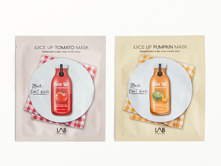 LAB FOR YOU Juice Up Pumpkin & Tomato Sheet Mask Set